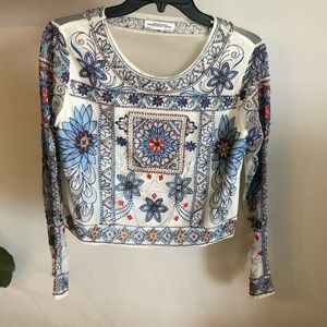 Zara Embroidered crop top in Small